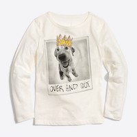 Girls' long-sleeve dog 2018 keepsake T-shirt