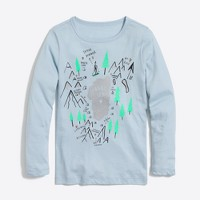 Girls' long-sleeve winter scene keepsake T-shirt