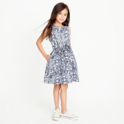 Girls' sleeveless printed dress factorygirls new arrivals c