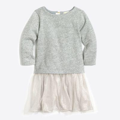 Girls' shimmer bottom sweatshirt dress   sale