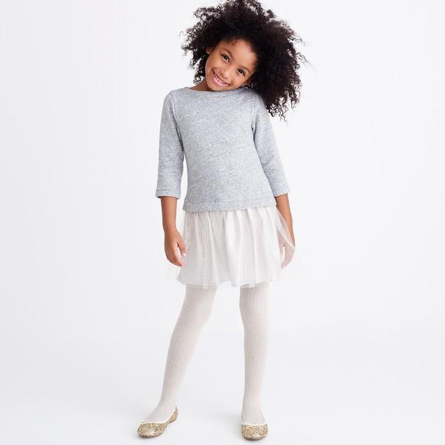Girls' shimmer bottom sweatshirt dress