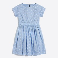 Girls' short-sleeve heart print dress