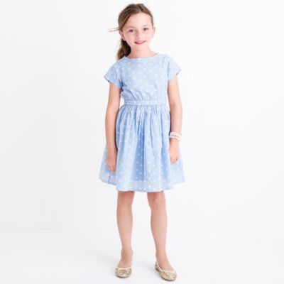 Girls' short-sleeve heart print dress factorygirls dresses c