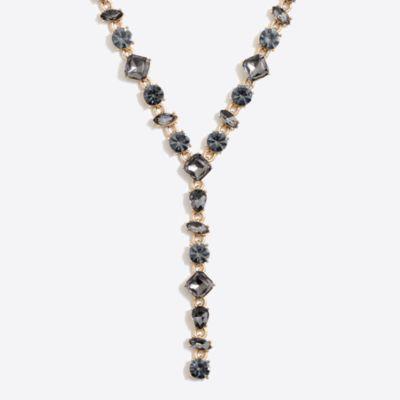 Crystal Y necklace factorywomen dress-up shop c