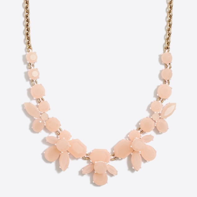Faceted collage necklace