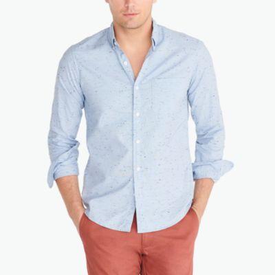 Marled cotton shirt factorymen casual shirts c