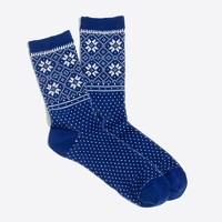 Snowflake panel winter-weight trouser socks
