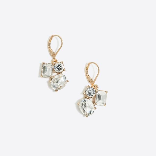Crystal duster dangle earrings