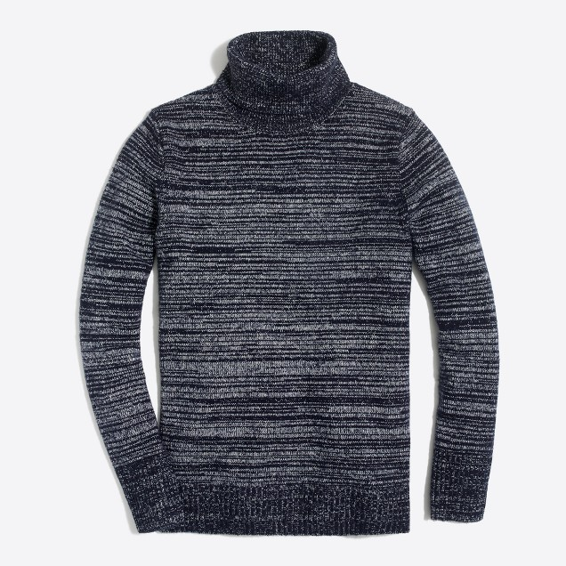 Space-dyed turtleneck sweater