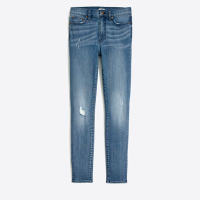 "Distressed high-rise jean in bella wash with 30"" inseam factorywomen new arrivals c"