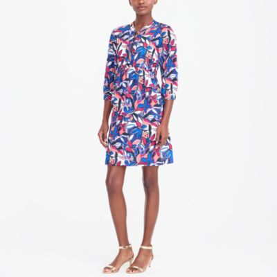 Lace-up printed dress factorywomen dresses c