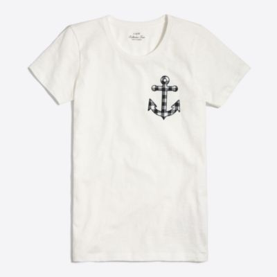 Anchor chest collector T-shirt factorywomen new arrivals c
