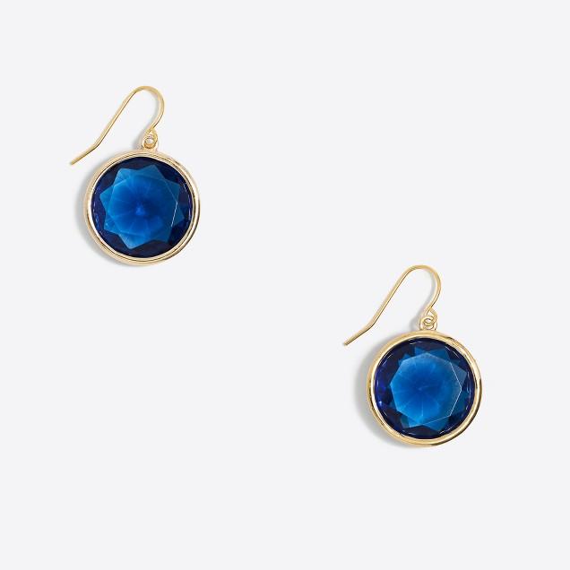 Simple crystal drop earrings