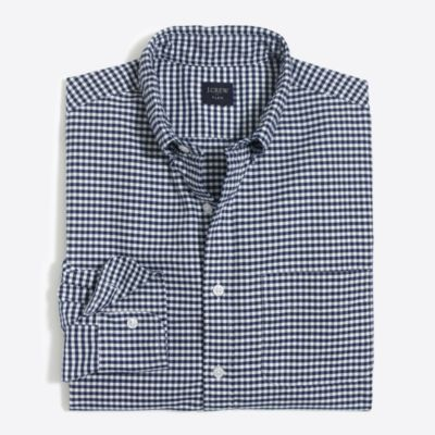 Flex oxford shirt in gingham factorymen new arrivals c