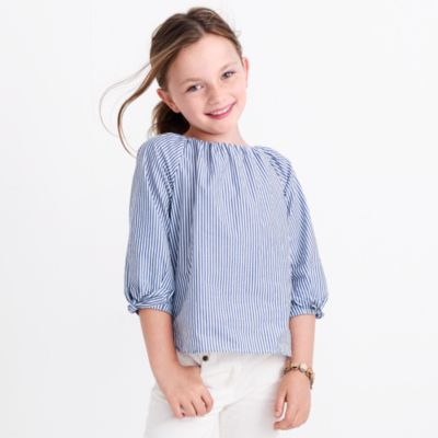 Girls' striped tie-sleeve top factorygirls shirts, t-shirts & tops c