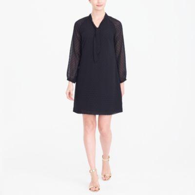 Long-sleeve clip dot dress factorywomen new arrivals c