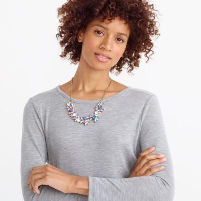 Gemstone cluster statement necklace