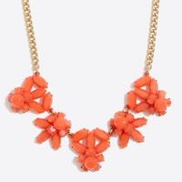 Gemstone collage statement necklace