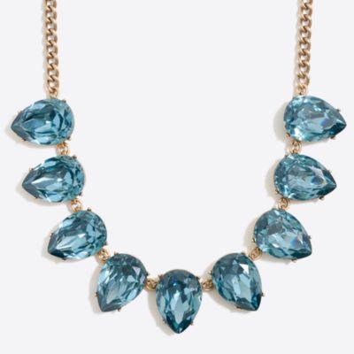 Crystal teardrop statement necklace   sale