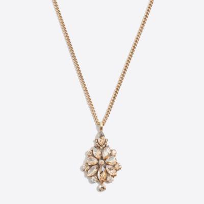 Crystal crest pendant necklace
