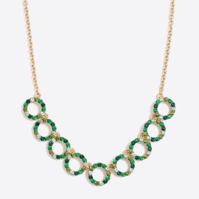 Gemstone wreath statement necklace
