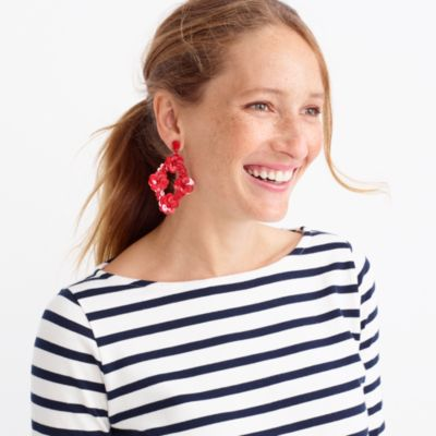Sequin statement earrings factorywomen dress-up shop c