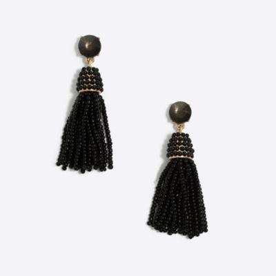 Gumdrop beaded tassel earrings