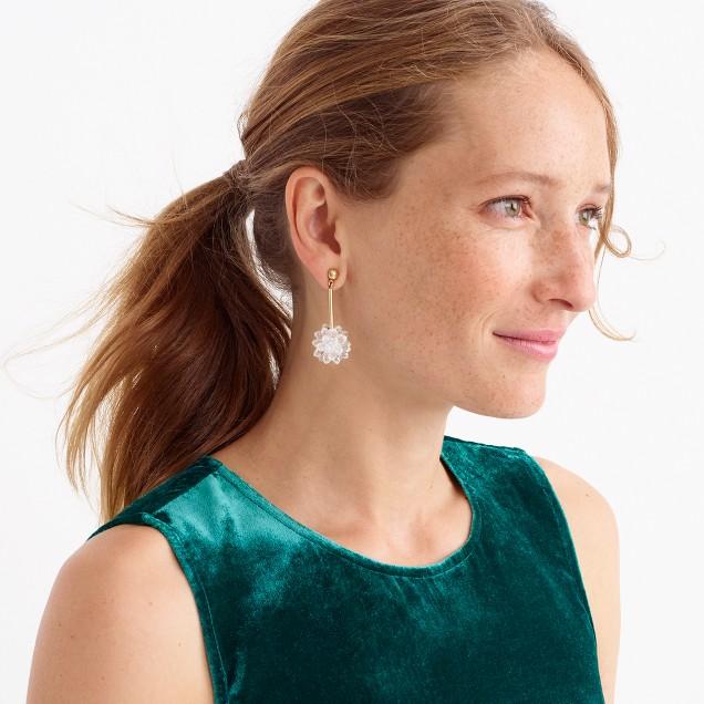 Snowdrop statement earrings