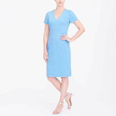 Cap-sleeve v-neck dress factorywomen new arrivals c