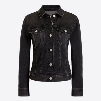Washed black denim jacket   search