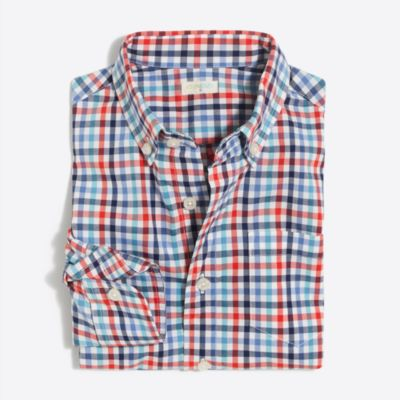 Boys' flex pattern washed shirt factoryboys shirts c