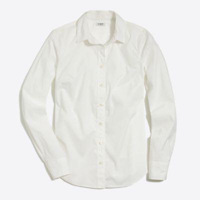 Stretch button-down shirt factorywomen shirts & tops c