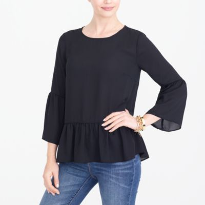 Bell-sleeve top factorywomen new arrivals c