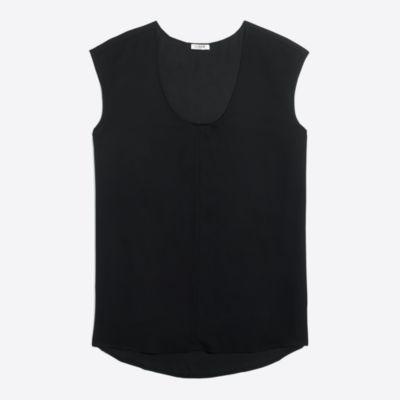 Cap-sleeve shirttail top factorywomen shirts & tops c