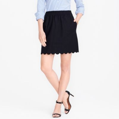 Scalloped sidewalk skirt factorywomen skirts c