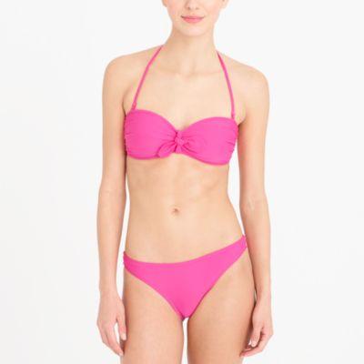 Tie-front bandeau top factorywomen swim & cover-ups c