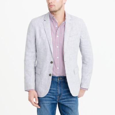 Thompson unstructured linen blazer factorymen thompson suits & blazers c
