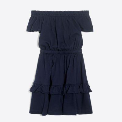 Girls' off-the-shoulder ruffle dress factorygirls dresses c