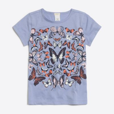 Girls' butterfly keepsake T-shirt factorygirls shirts, t-shirts & tops c