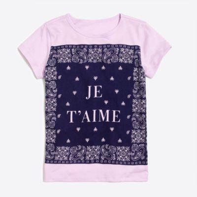 Girls' je t'aime bandana keepsake T-shirt factorygirls shirts, t-shirts & tops c