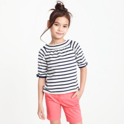 Girls' striped off-the-shoulder top factorygirls shirts, t-shirts & tops c