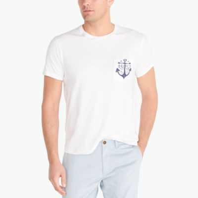 Anchor graphic T-shirt factorymen new arrivals c