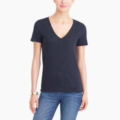 Vintage cotton V-neck T-shirt factorywomen knits & t-shirts c