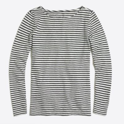 Long-sleeve striped artist T-shirt factorywomen knits & t-shirts c