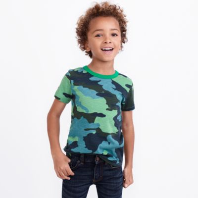 Boys' short-sleeve camo printed T-shirt factoryboys knits & t-shirts c