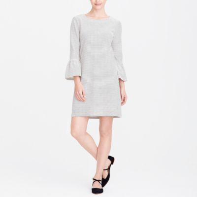 Striped ruffle-sleeve dress factorywomen dresses c