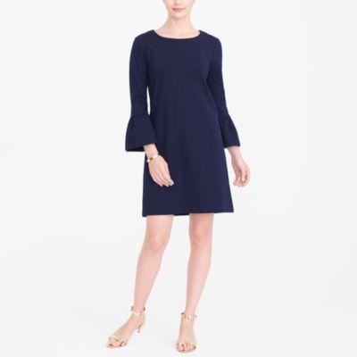 Solid ruffle-sleeve dress factorywomen dresses c