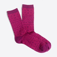 Two-tone winter-weight trouser socks