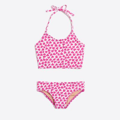 Girls' cropped tankini set in heart print factorygirls new arrivals c