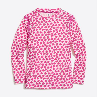 Girls' rashguard in heart print factorygirls new arrivals c
